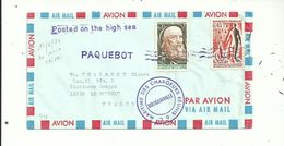 1 L Postée En Mer Bateau BOUGAINVILLE...Oblitérée  Griffe PAQUEBOT.+TAIPEI Au Verso......17/06/1974 ...... à Voir - Seepost
