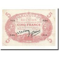 Réunion, 5 Francs, 1930, KM:14, TTB+ - Réunion