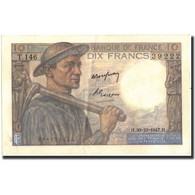 France, 10 Francs, 1947, 1947-10-30, KM:99f, SUP+ - 1871-1952 Circulated During XXth