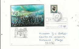 1 L PROPAGANDE PATRIOTIQUE CORSE.....taxée 5.90 Fr .3/10/1995........à Voir..... - Marcofilia (sobres)