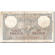 Maroc, 20 Francs, 1928-1929, KM:18b, 1945-03-01, TTB - Maroc