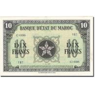 Maroc, 10 Francs, 1943, KM:25a, 1944-03-01, SUP - Maroc