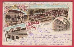 Sarreguemines / Gruss Aus Saargemünd ... Litho  - 1901 ( Voir Verso ) - Sarreguemines