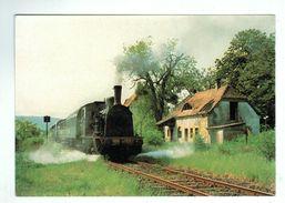 16854 Cpm   Gare D'ABONCOURT , Départ Du Train Sur Le Chemin De Fer Touristique De La Canner  ,  ACHAT DIRECT ! - Andere Gemeenten