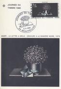 Carte  Maximum   1er  Jour     JOURNEE  DU  TIMBRE      MONTPELLIER   1980 - Cartes-Maximum