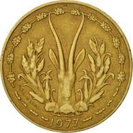 West African States, 10 Francs, 1977, Paris, TTB, Aluminum-Nickel-Bronze, KM:1a - Ivory Coast