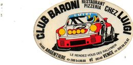 Autocollant Club Baroni. Restaurant Chez Luigi. Rallymen. - Autocollants