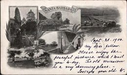 ! 1900 Alte Ansichtskarte Santa Barbara, California, Mission, Mönch, Kloster, USA, Taxstempel, Taxe - Santa Barbara