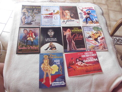 LOT DE 10  ILLUSTRATIONS..AFFICHES DE FILMS..AVEC FEMMES SEXY..TAYLOR..KINSKY..MONROE..ETC - Postcards