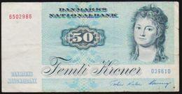 1972 DENMARK 50 FEMTI KRONER NOTE IN A NICE COLLECTIBLE GRADE - Danimarca