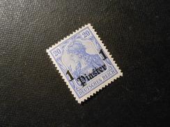 D.R.38b  1PIA Auf 20Pf*  Deutsche Auslandspostämter ( Türkei ) 1906  Mi € 16,00 - Offices: Turkish Empire