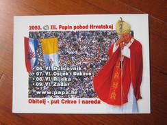 Crotia Postcard, Papa John Paulo II, - Historical Famous People