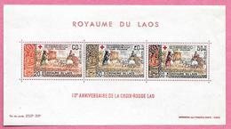 Royaume Du Laos - LAOS - LAO - 1967 - Bloc N° 39 - 10° Anniversaire De La Croix-Rouge LAO - Neuf - Laos