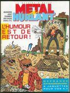 No PAYPAL !! Metal Hurlant 104 + Encart 4 Jaquettes K.7,Jano Kebra Margerin Dodo Ben Radis Andréas Chaland Schuiten 1984 - Métal Hurlant