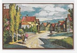 Litho Oberbüren - Dorfpartie  -  August M. Bächtiger - SG St. Gall
