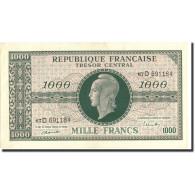 France, 1000 Francs, 1943-1945 Marianne, Undated (1945), Undated (1945), KM:107 - Trésor