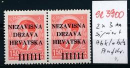 Kroatien Nr. 2x 3  Abklatsch **. ( Se3900  ) Siehe Scan - Croatia
