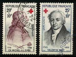 FRANCE - YT 1226 Et 1227 - CROIX ROUGE - 2 TIMBRES OBLITERES - Usati