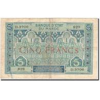 Maroc, 5 Francs, 1920-1924, KM:9, Undated (1924), TB - Maroc