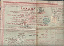 ANCIENNE ACTION DU PANAMA 1889 : - Actions & Titres