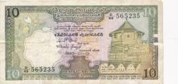 Billets - B2724 - Ceylon  - Billet  10 Rupees  ( Type, Nature, Valeur, état... Voir Double  Scans) - Banknotes