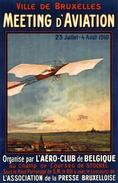 Ville De Bruxelles Meeting D'Aviation 1910 - Postcard - Poster Reproduction - Advertising
