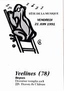 CPSM  (78) BEYNES Fête De La Musique Music 1991 Grenouille Frog Illustrateur - Beynes