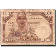 France, 100 Francs, 1947 French Treasury, 1947, 1947, KM:M9, B, Fayette:VF32.1 - Treasury