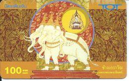 éléphant Elephant Animal Carte Prépayée  Karte (S.363) - Thaïlande