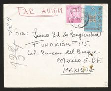 A) 1966 BELGIUM, PORTRAIT KING BAUDOUIN, ROYAL MAIL, EUROPE, AIRMAIL, CIRCULATED COVER FROM BELGIUM TO MEXICO. XF - Airmail