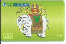 BD éléphant Elephant Animal Télécarte Phonecard Karte (S.365) - Chine