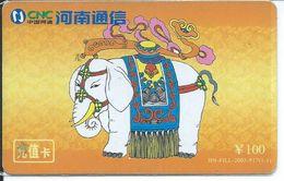 BD éléphant Elephant Animal Télécarte Phonecard Karte (S.368) - Chine