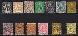 """Reunion YT 32 à 44 """" Série Complète 13 Val. """" 1892 Oblitérés - Réunion (1852-1975)"""