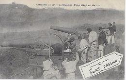 Artillerie De Cote   Vérification D'une Pièce De 194 Mm - Manoeuvres