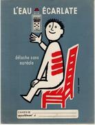 Protège Cahier - L'eau écarlate - Illustration SAVIGNAC - Buvards, Protège-cahiers Illustrés