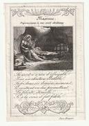 Décès Jeannne C.A.  DE CAIGNY épouse François Strack Thielt 1764-1831 (Paris Hocquart) Maxime Préparez-vous.. Adel Noble - Andachtsbilder