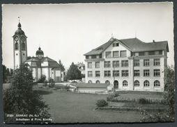 GOSSAU - SCHULHAUS - PROT.KIRCHE - SG St. Gall