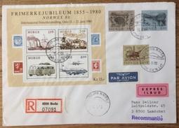 Norge / Norway 1979 - 1980, Registered Expres Cover, Jan Mayen, Plane Boat Bus Train Bridge, München-Airport-cancel - Norway