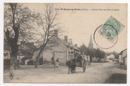 18 CHER - SAINT DENIS DE PALIN Grande Rue De Palin Et Eglise - France