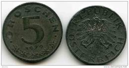 Autriche Austria 5 Groschen 1979 KM 2875 - Oesterreich