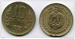 Bulgarie Bulgaria 10 Stotinki 1974 KM 87 - Bulgaria