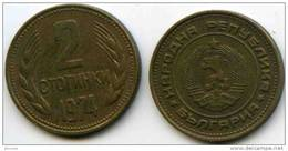 Bulgarie Bulgaria 2 Stotinki 1974 KM 85 - Bulgarien
