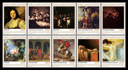 CENTRAL AFRICA 2017 - Paintings VII: Hals, Rembrandt, Van Dyck, De La Tour, Fragonard, David, Degas. Official Issue - Art
