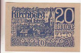 191-Banconote-Carta Moneta Di Emergenza-NOTGELD-Austria-Osterraich-Emergency Money-20 Heller-1920. - Autriche