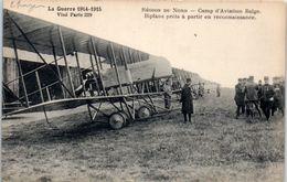 AVIATION --  Avion --  Région Du Nord - Camd'aviation Belge Biplan Près à Partir - 1914-1918: 1ère Guerre