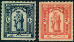 1897, AUSTRALIA, Charity Stamps For The PRICESS Of WALES HOSPITAL FUND 1/- And 2/6 - Medicine