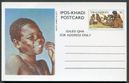 1976 Transkei Set Of 10 Stationery Postcards. Traditional Costumes - Transkei
