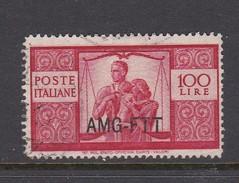 Trieste Allied Military Government S 67 1949 Democratica 100 L Carmine Used - 7. Trieste