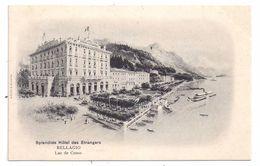 CPA Illustrée Bellagio Lac De Como Italie Italia Splendide Hôtel Des Etrangers Non écrite - Como