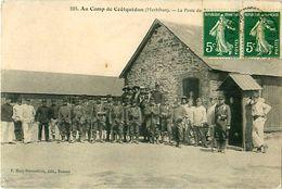 Cpa Au Camp De COETQUIDAN 56 Le Poste De Police - Guer Cötquidan